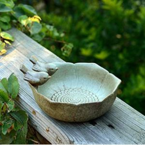 Romote Ceramic Bird Feeder