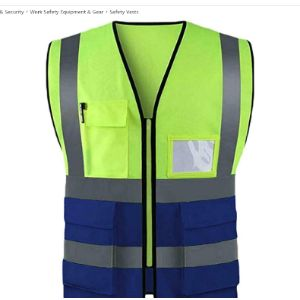 True Face High Visibility Orange Safety Vest