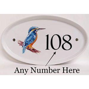 White Ceramic House Number Plaque