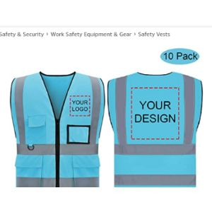 Sdb Custom Logo Safety Vest