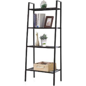 Inmozata Black Corner Ladder Shelf
