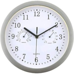 Hnht Wall Clock Thermometer Hygrometer