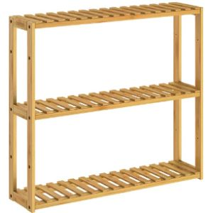 Casaria Bathroom Shelf Bamboo