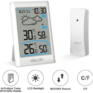 Cestmall Wireless Outdoor Indoor Thermometer
