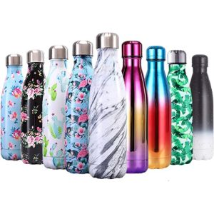 Qxuan Holder Pattern Insulated Water Bottle