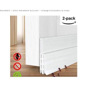 White Draft Excluder