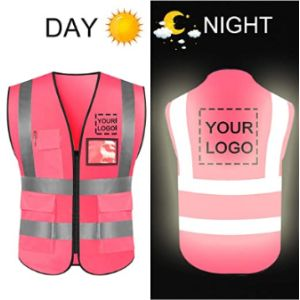 Yoweshop Pink Reflective Safety Vest