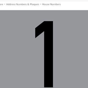 Greenit Window Film House Number