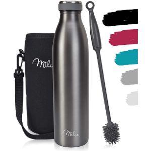 Milu St Stainless Steel Water Bottle Sport Cap