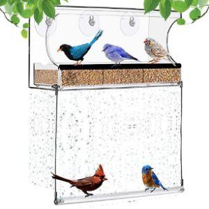 Lanscoery Acrylic Window Bird Feeder