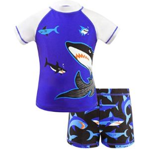 Visit The Ikali Store Boy Short Two Piece Swimsuit