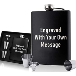 Edsg Stainless Steel Whisky Flask