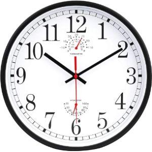 Jomparis Wall Clock Thermometer Hygrometer