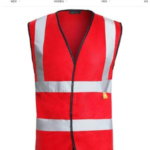 Shelikes Red High Visibility Vest