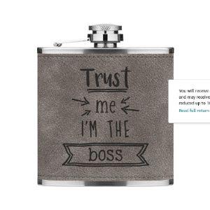 Gift Base Luxury Leather Hip Flask