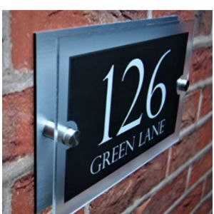 Sonnet Acrylic House Number Plaque