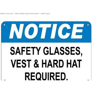 Lionkin8 Required Sign Safety Vest