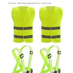 Saijer Motorcycle High Visibility Vest