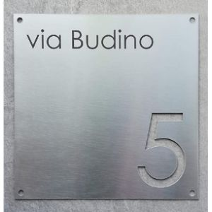 Mosaic House Number Plaque