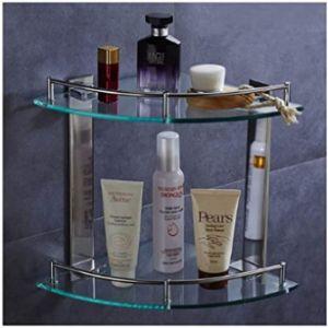 Corner Shower Glass Shelf