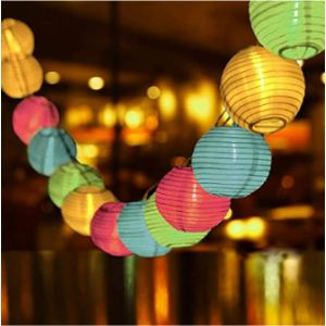 Qxmcov Led Lantern String