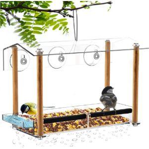 Niuxx Suction Cup Window Bird Feeder