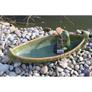Holzwurm Frog Bird Bath