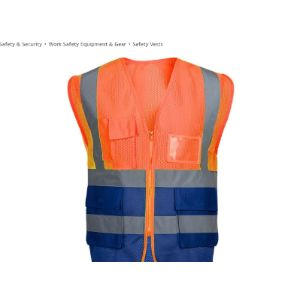 Safety Clothing Safety Vest Mesh Fabric