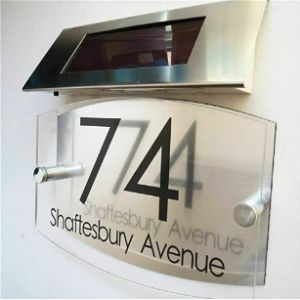 Misdd Illuminated House Number Plaque