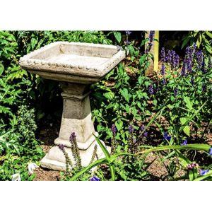 Discount Garden Statues Rustic Bird Table