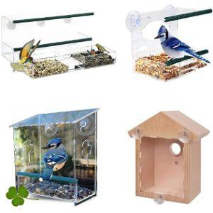 Pologyase Squirrel Proof Window Bird Feeder