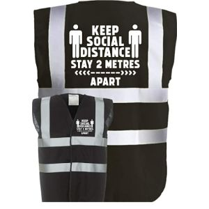 Corporate Togs Black High Visibility Vest