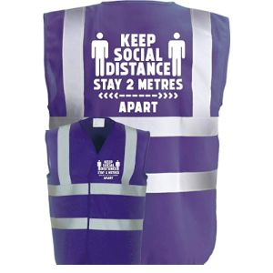 Corporate Togs Purple Safety Vest