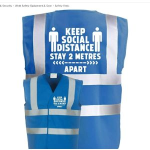 Corporate Togs Blue High Visibility Vest