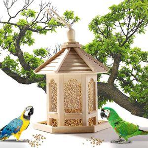 Eternali Wooden Window Bird Feeder