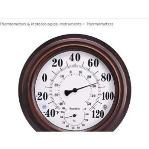 Hilme Decorative Bronze Outdoor Thermometer