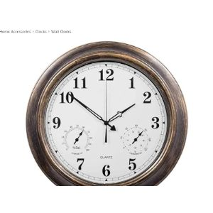Whccl Garden Wall Clock Thermometer