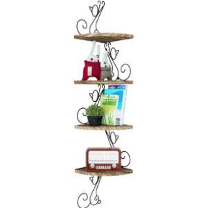 Alsonerbay Rustic Corner Shelf