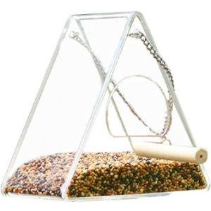 Caste Clear Plastic Window Bird Feeder