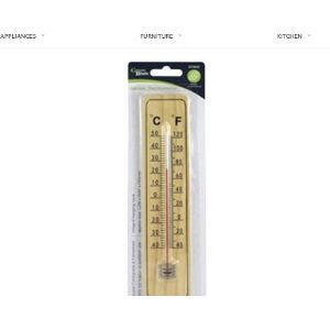 Concept4U Wooden Wall Thermometer