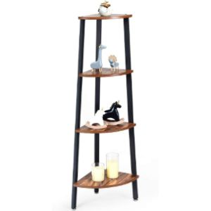 Costway Black Corner Ladder Shelf