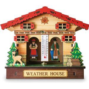 Yuyan Wooden Wall Thermometer