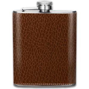 Emonye Crocodile Leather Hip Flask