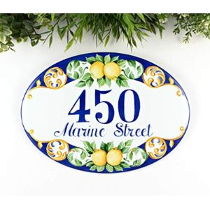 Tile House Number Plaque