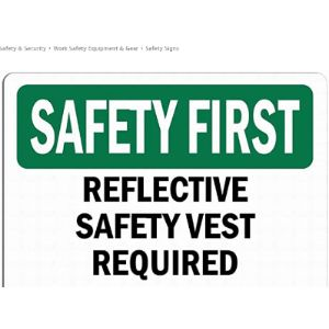 Mefoll Required Sign Safety Vest