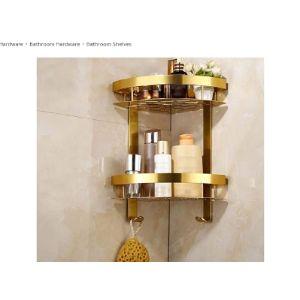 Zhanmags Gold Bathroom Shelf