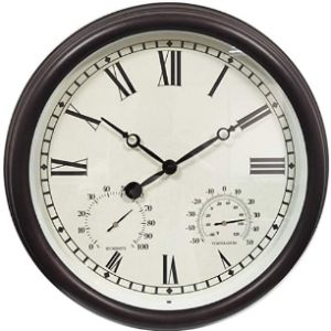 Zm-Shoes Garden Wall Clock Thermometer