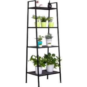 Krispich Black Corner Ladder Shelf