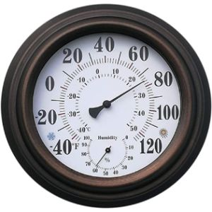 Aodow Decorative Bronze Outdoor Thermometer