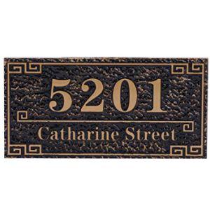 Bronze House Number Plaque